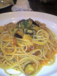 ナスとベーコンのスパゲティの画像